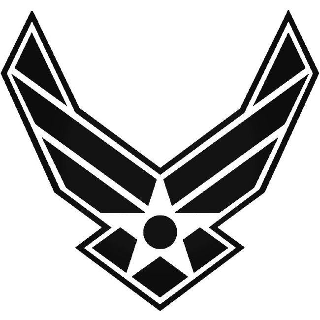 Air Force Symbol With Border Decal Sticker