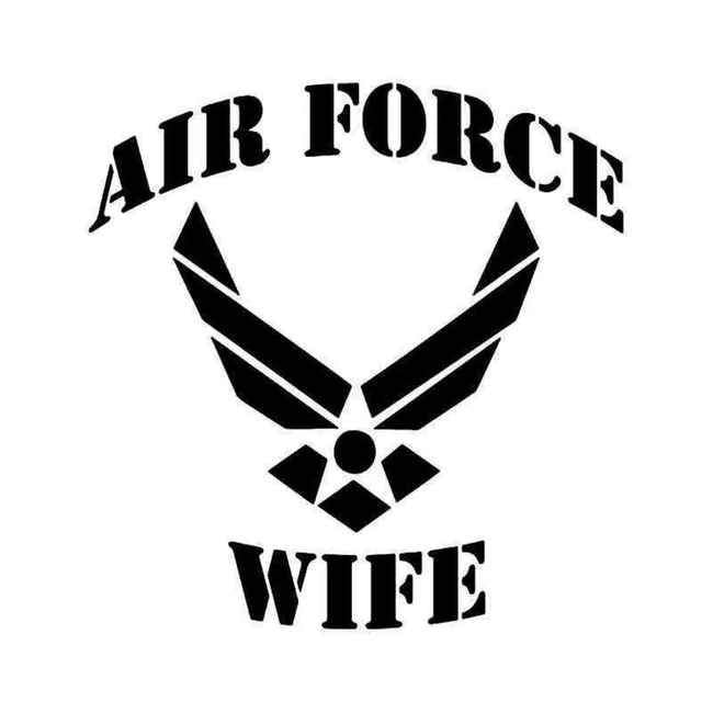 Air Force Wife Military Decal Sticker