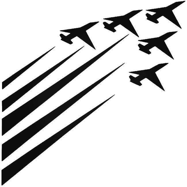 Airforce Jet Fighters Decal Sticker