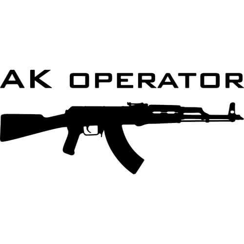 AK Operator Decal Sticker
