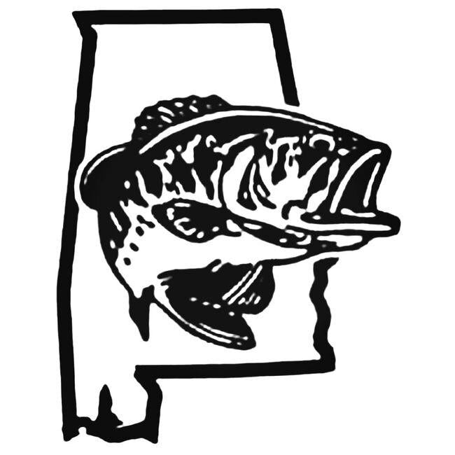 Alabama Bass Fishing Decal Sticker
