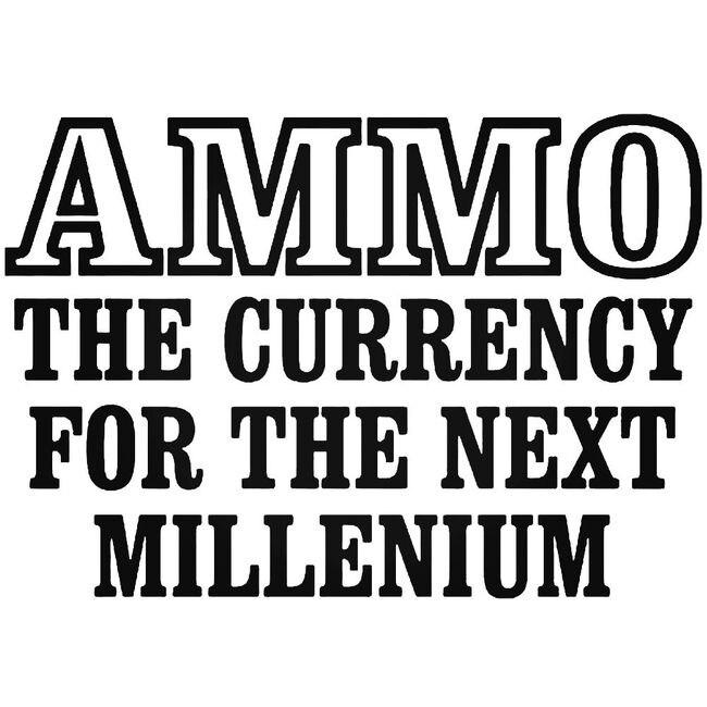 Ammo Currency Gun Decal Sticker