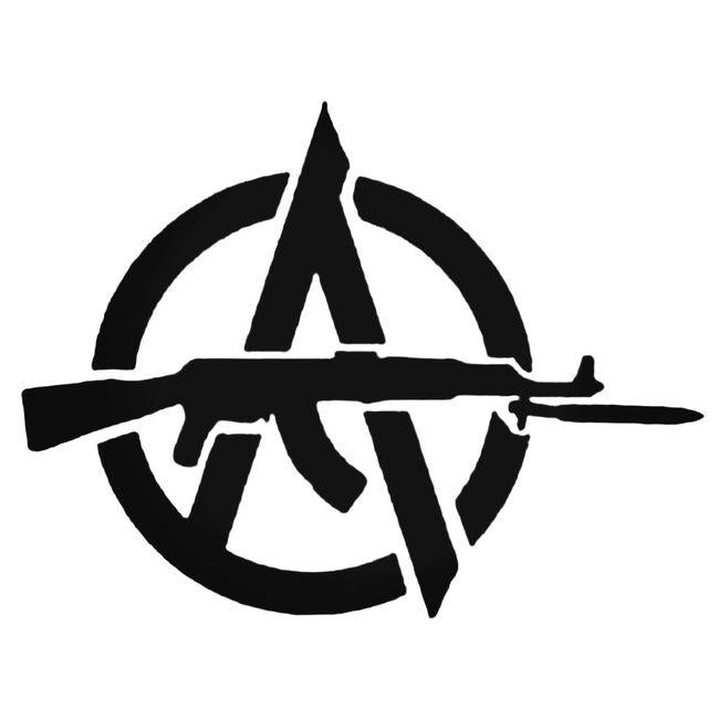 Anarchy With Ak47 Decal Sticker