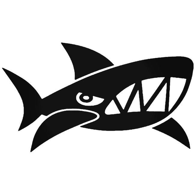 Angry Shark Fish Decal Sticker