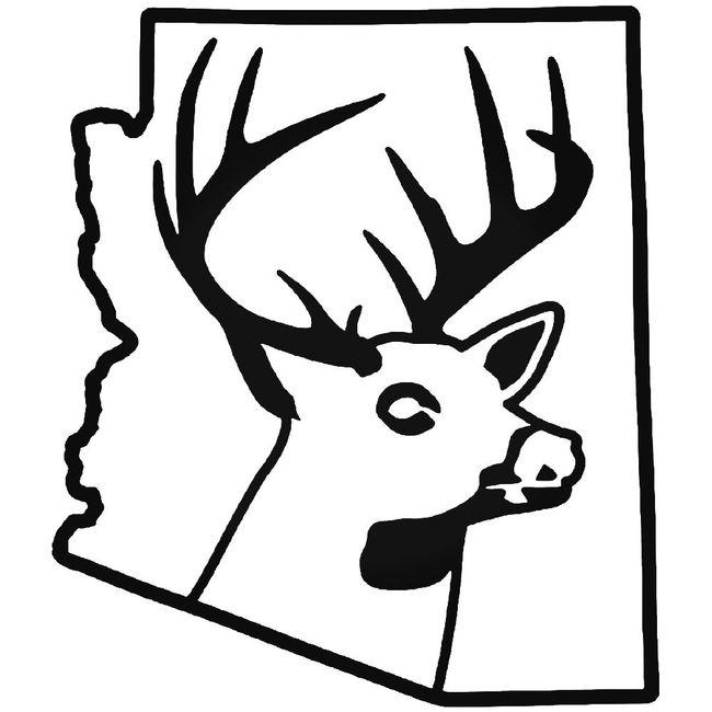 Arizona State Deer Buck Hunting Decal Sticker