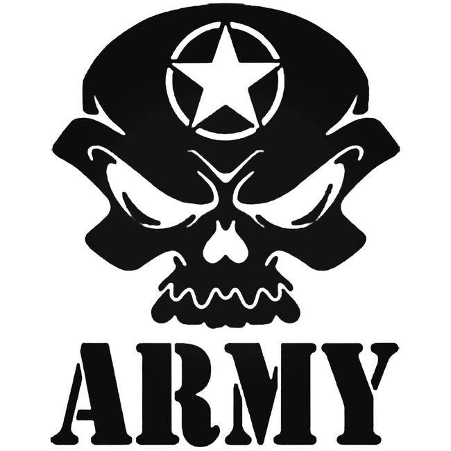 Army Skull Military Decal Sticker