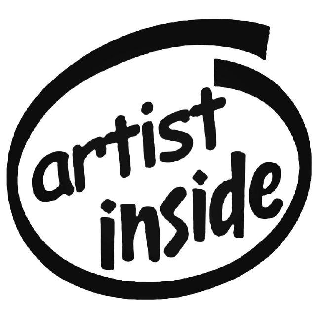 Artist Inside Decal Sticker