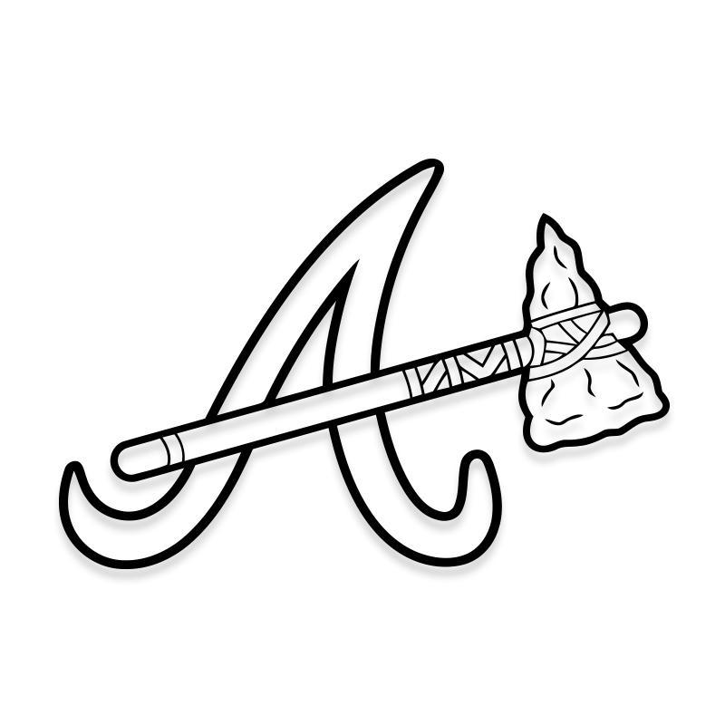 Atlanta Braves Logo Decal MLB Sticker