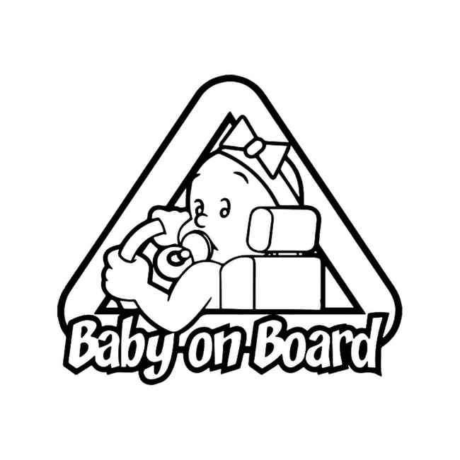 Baby On Board 3 Decal Sticker