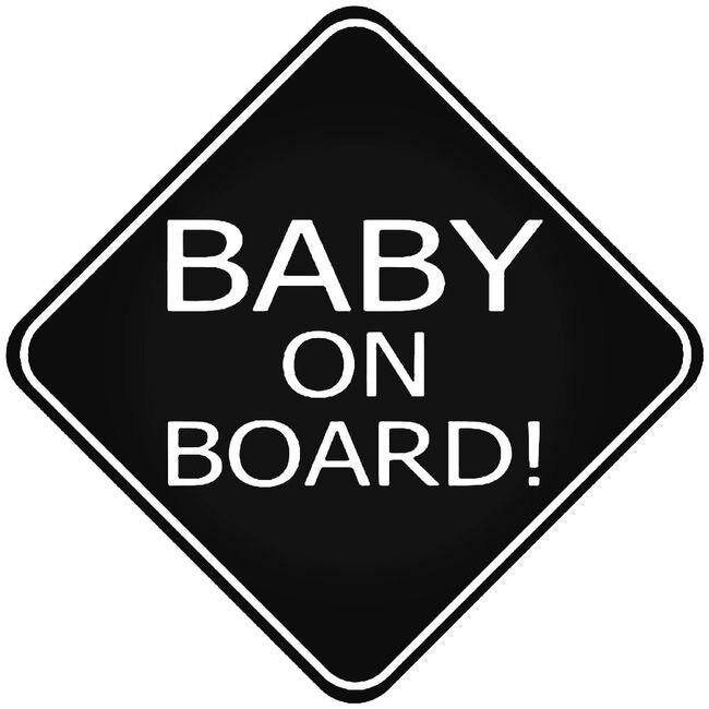 Baby On Board Caution Decal Sticker