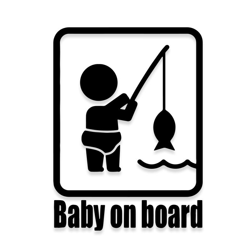 Baby on Board Fishing Decal