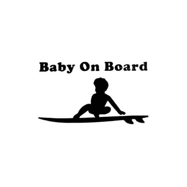 Baby On Board Surfboard Surfing Decal Sticker