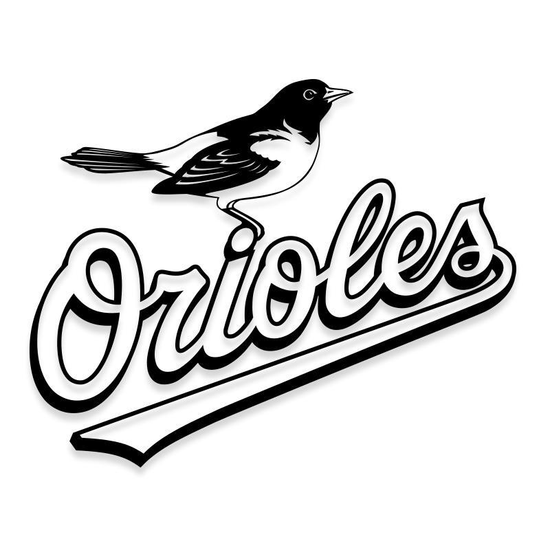 Baltimore Orioles Official Sticker Decal