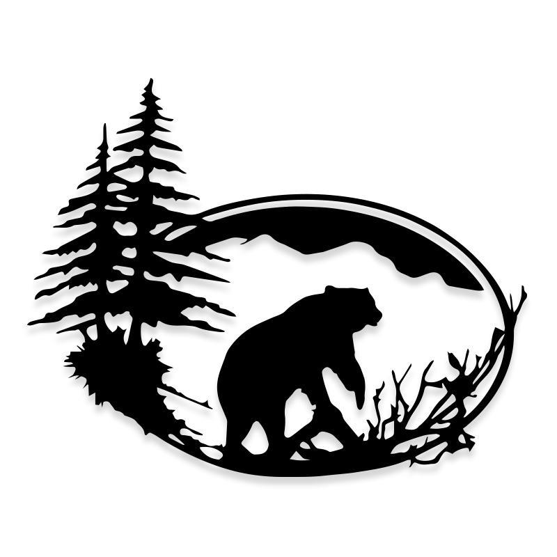 Bear Hunting Decal Sticker