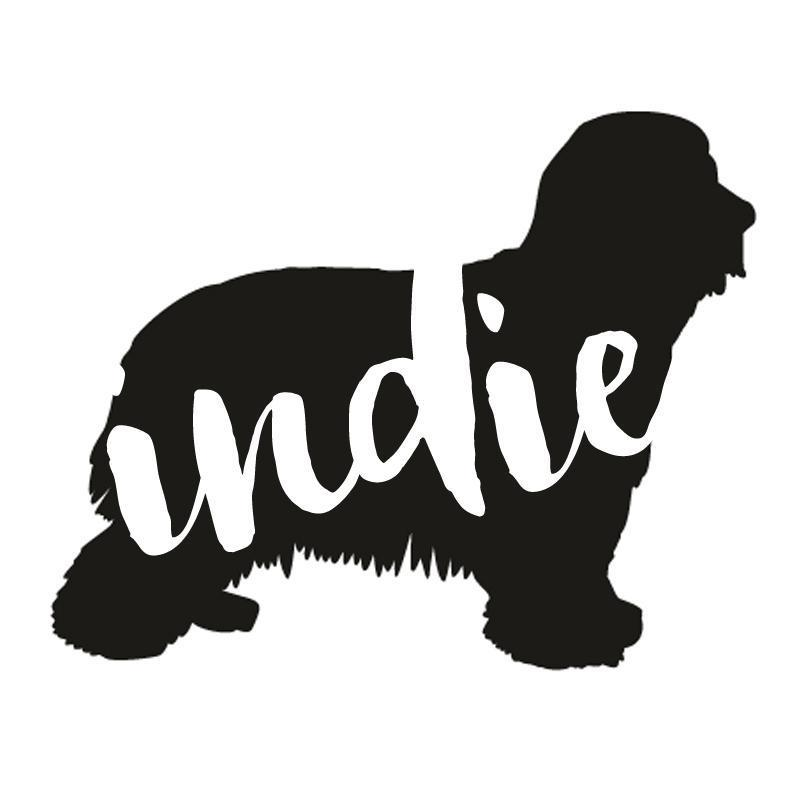 Bearded Collie Dog Decal Sticker for Car Windows