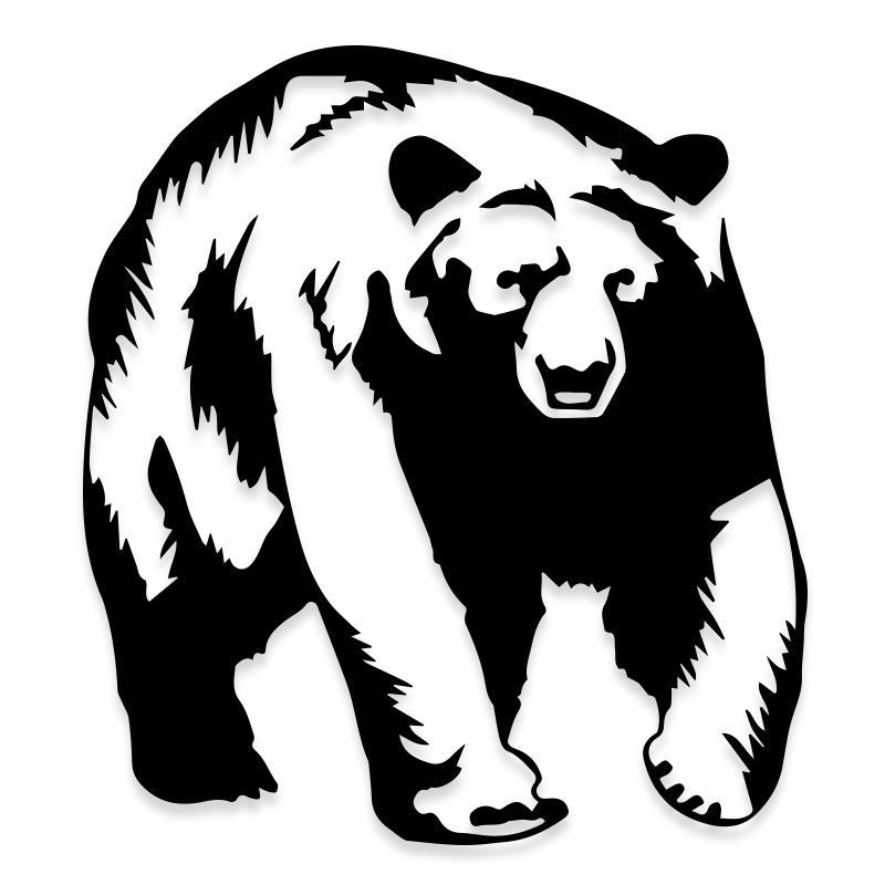 Big Black Grizzly Bear Decal Sticker