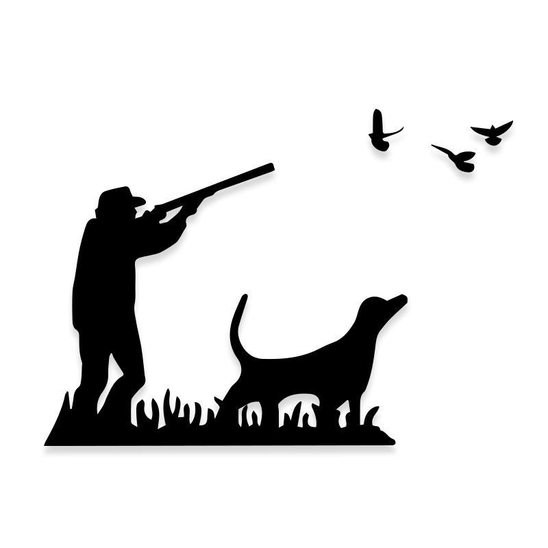 Bird Duck Hunting With Dog Decal Sticker