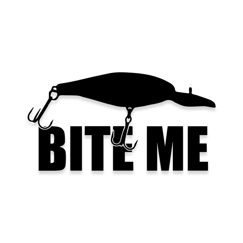 Bite Me Lure Fishing Decal Sticker