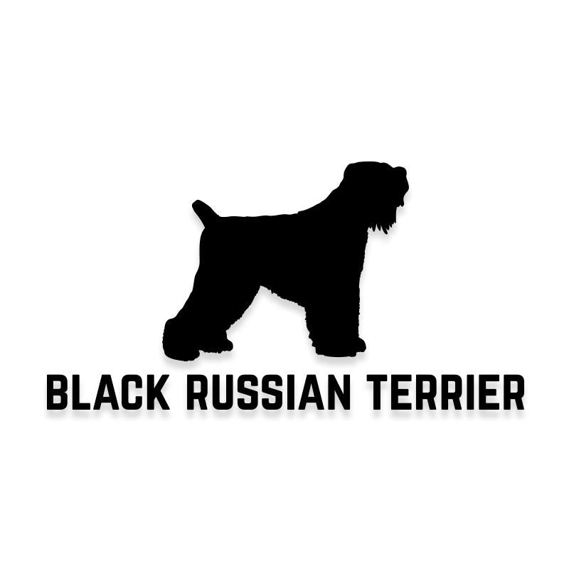 Black Russian Terrier Car Decal Dog Sticker for Windows