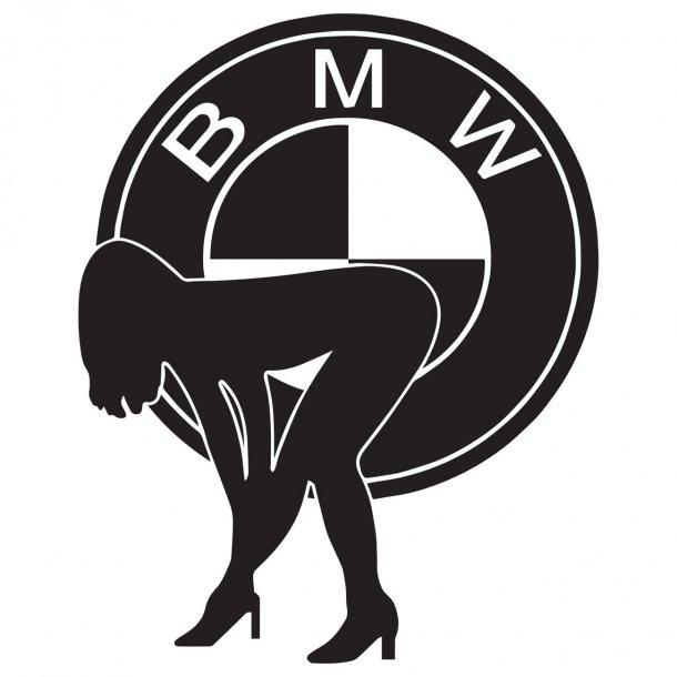 Bmw Logo Girl Decal Sticker