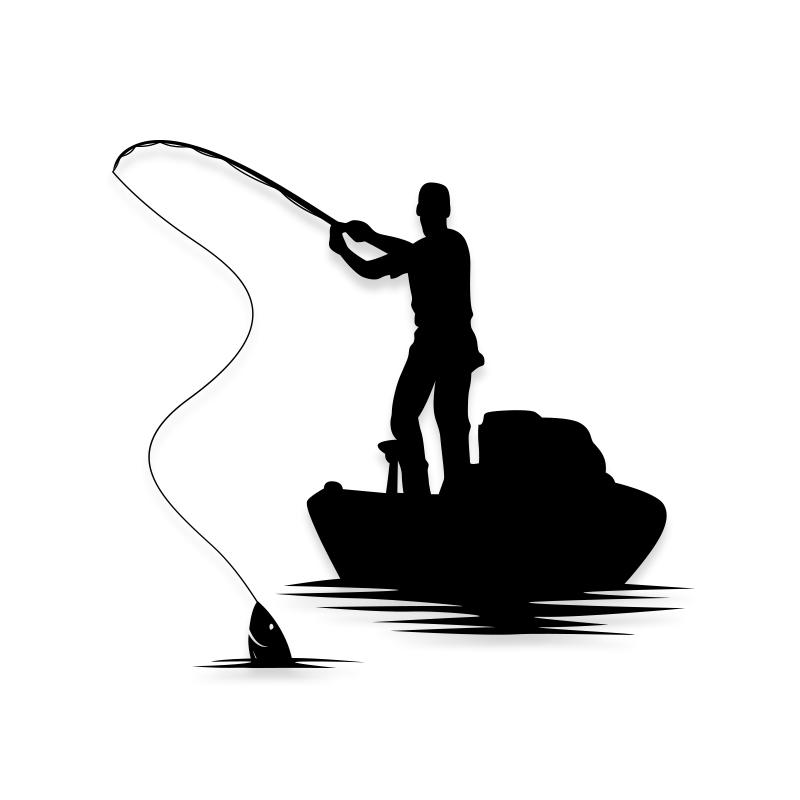 Boat Fishing Decal Sticker