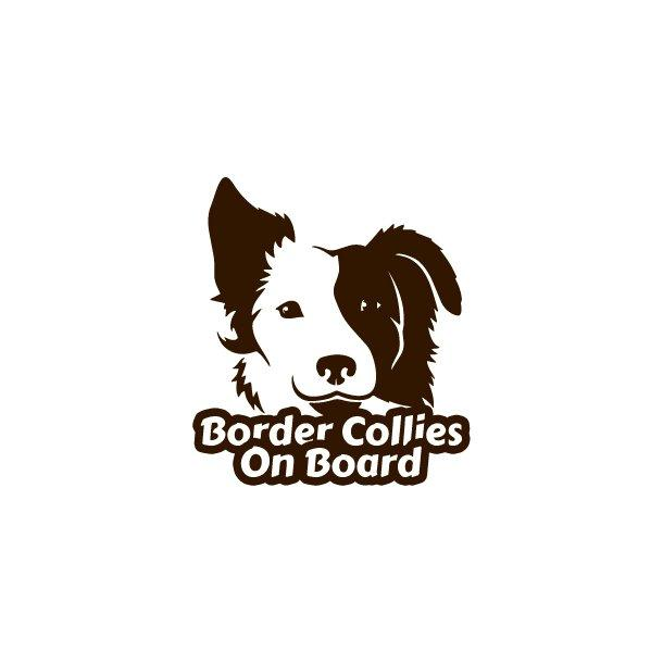Border Collies On Board Decal Sticker