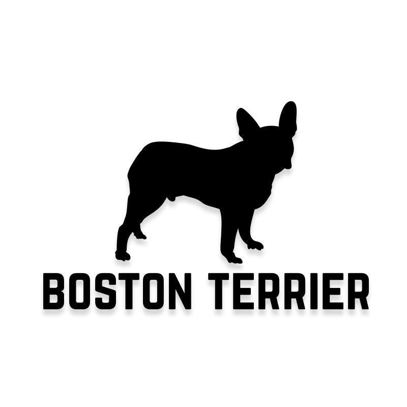 Boston Terrier Car Decal Dog Sticker for Windows