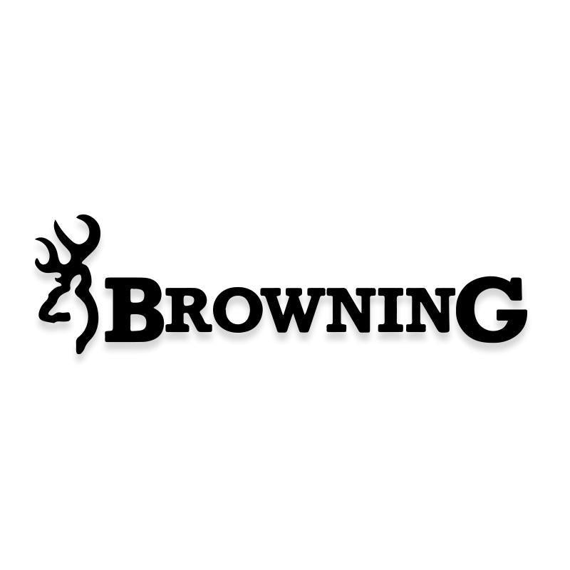 Browning Deer Antlers Hunting Logo Decal Sticker