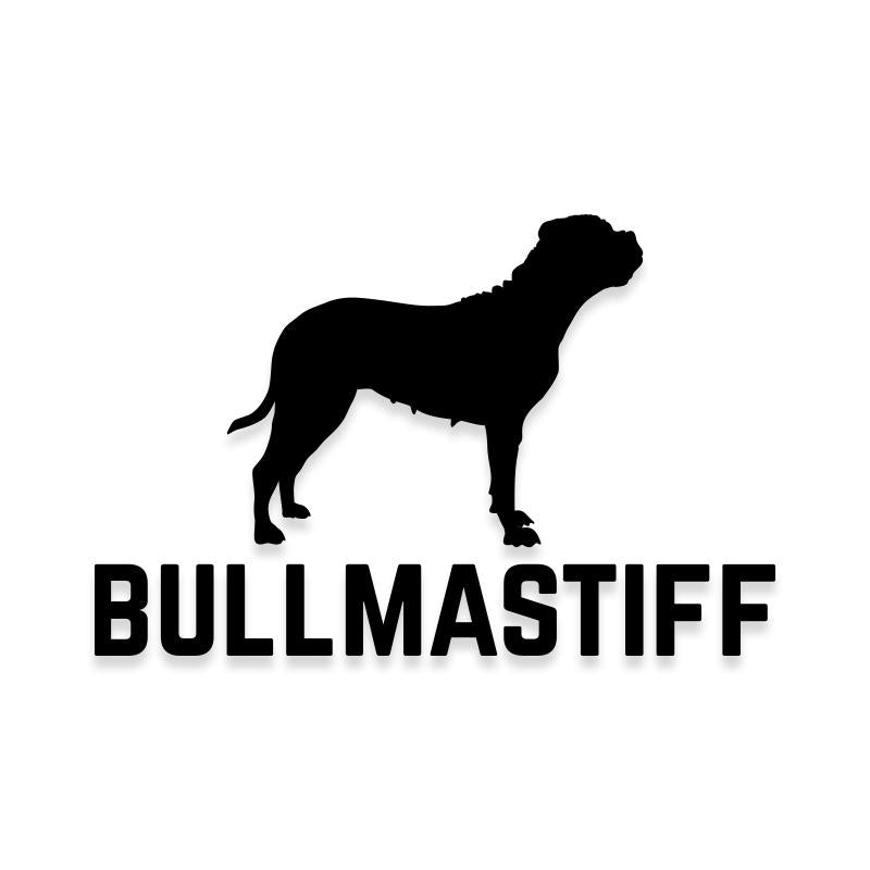 Bull Mastiff Car Decal Dog Sticker for Windows