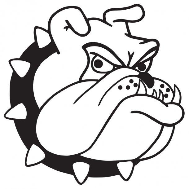 Bulldog Head Decal Sticker