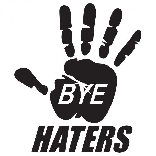 Bye Haters Decal Sticker