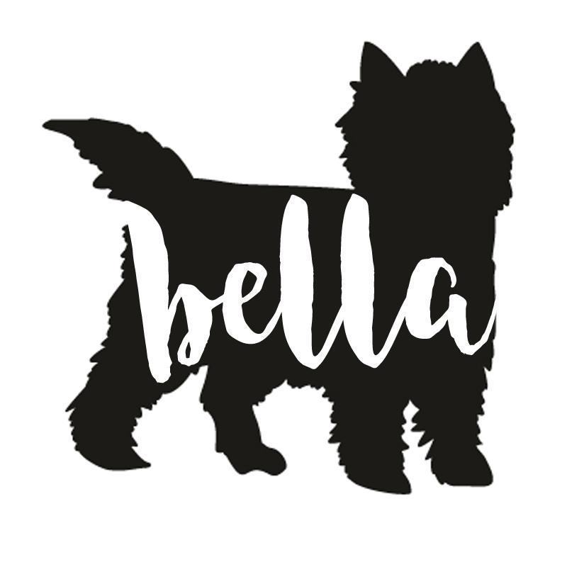 Cairn Terrier Dog Decal Sticker for Car Windows