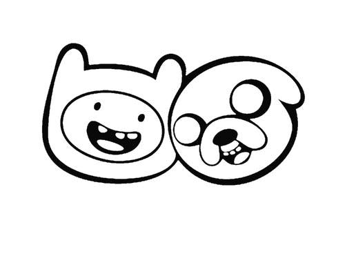 Cartoon Adventure Time Finn & Jake Decal Sticker