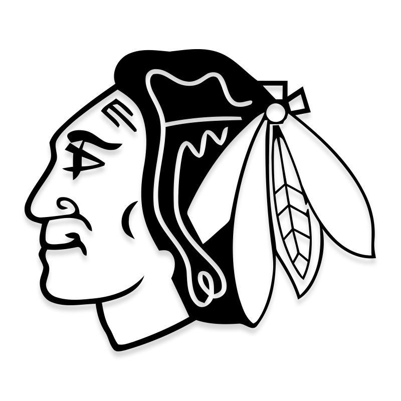 Chicago Blackhawks NHL Hockey Indian Mascot Decal Sticker