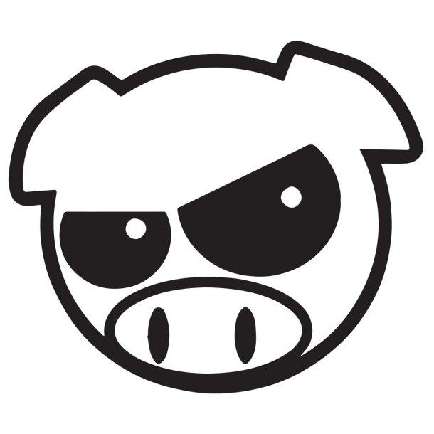 Crazy Pig Decal Sticker