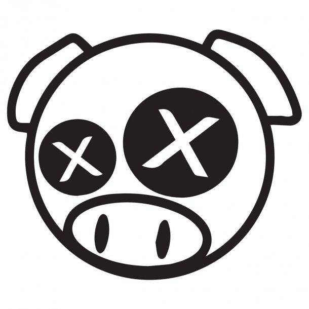 Dead Pig Decal Sticker