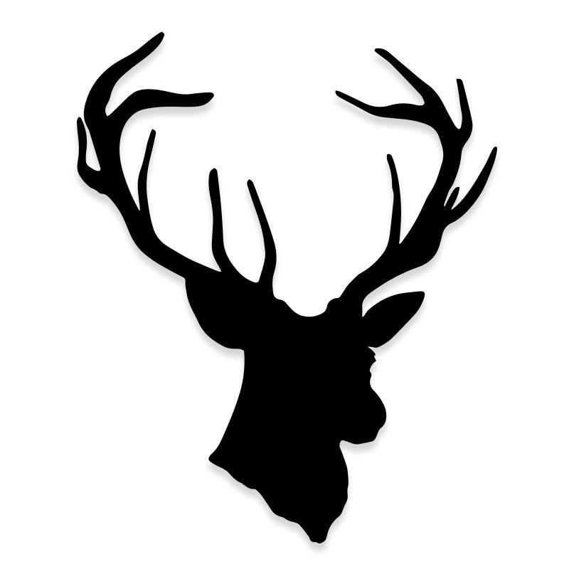 Deer Antler Buck Decal Sticker