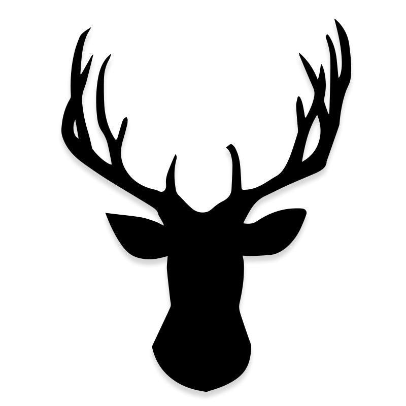 Deer Antlers Silhouette Truck Decal Sticker