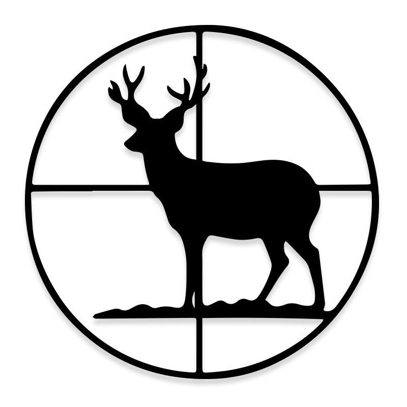 Deer Bulls Eye Target Hunting Decal Sticker