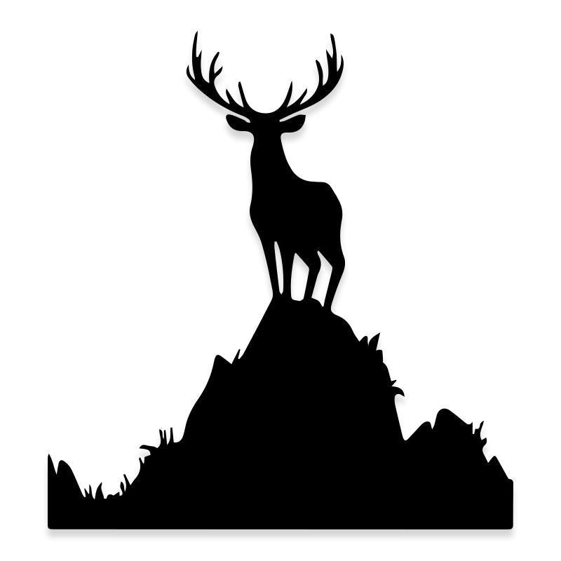 Deer Elk Buck Large Antlers Hunting Decal Sticker