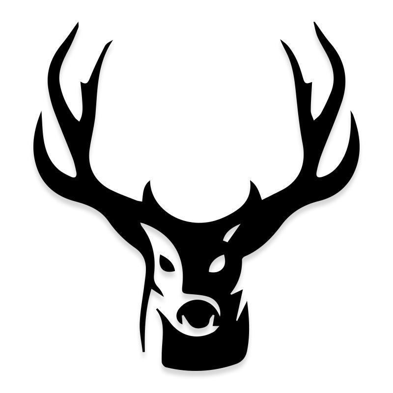 Deer Hunting Antlers Decal Sticker for Trucks