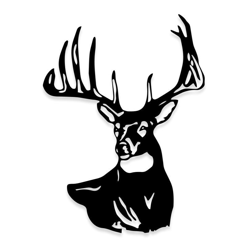 Deer Hunting Big Buck Silhouette Decal Sticker
