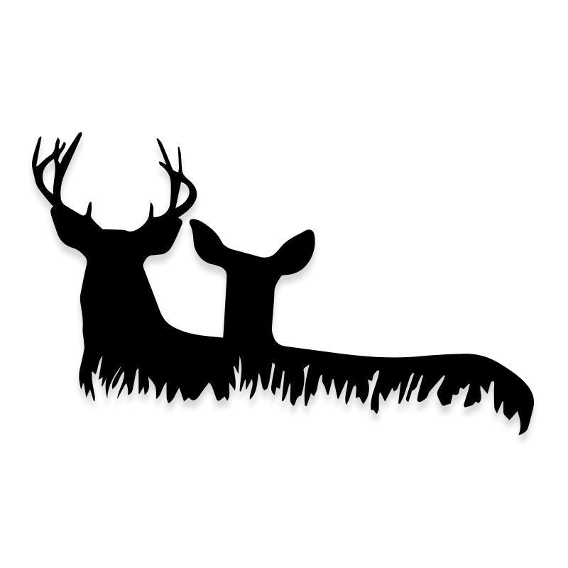 Deer Hunting Silhouette Decal Stickers