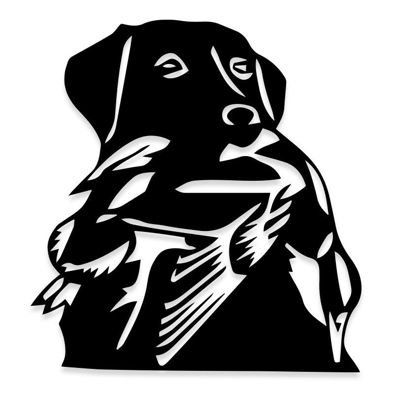 Dog Hunting Duck Decal Sticker