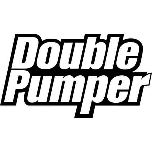 Double Pumper Logo Decal Sticker
