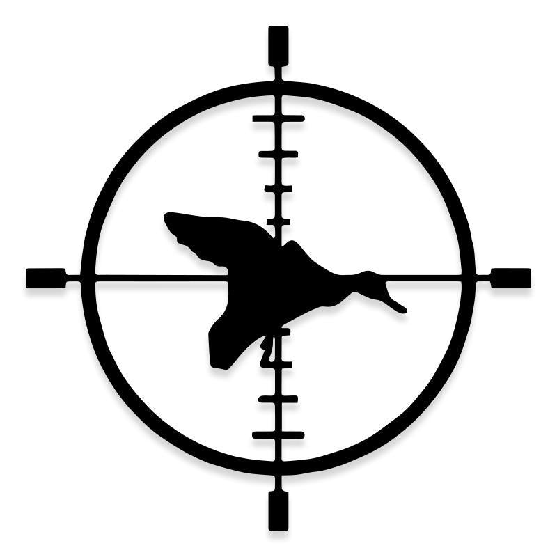 Duck Hunting Bulls Eye Bird Pheasant Turkey Target Decal Sticker