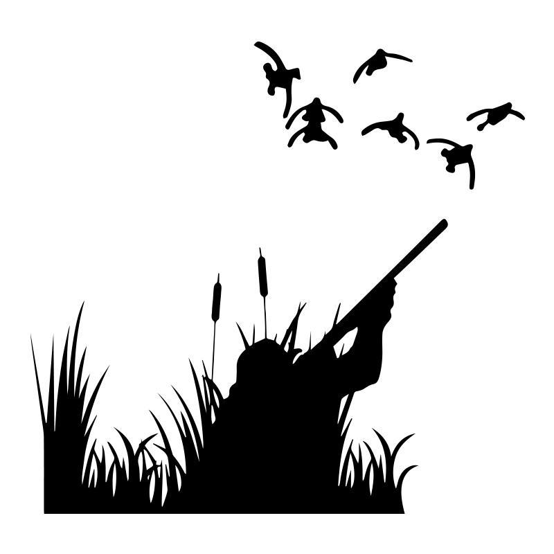 Duck Quail Pheasant Bird Hunting Decal Sticker