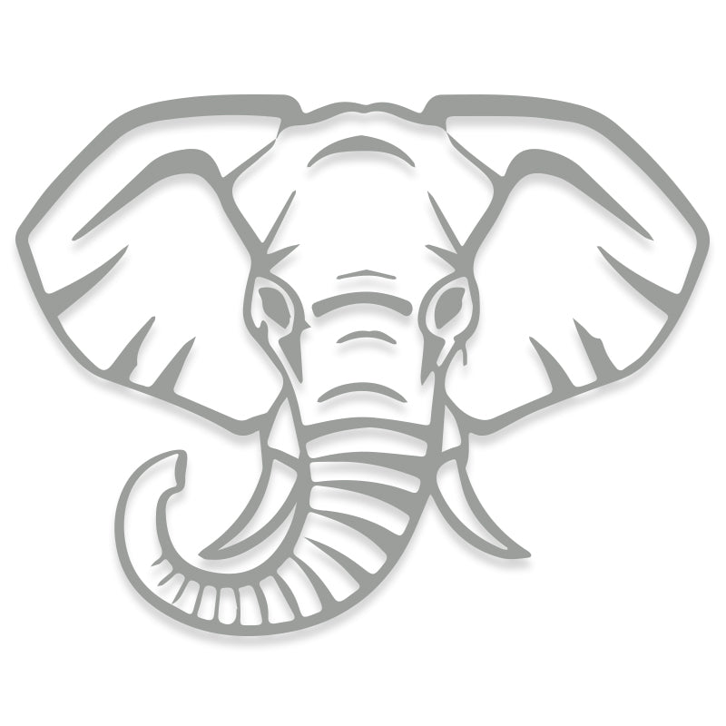 Elephant Face Vinyl Decal