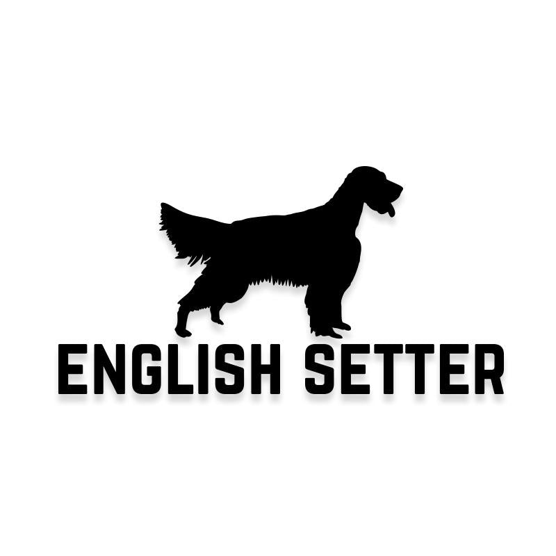 English Setter Car Decal Dog Sticker for Windows