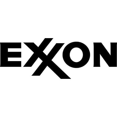 Exxon Logo Decal Sticker